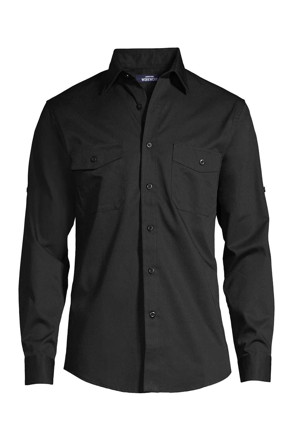 top design outlet cheap sale Men's Long Sleeve Straight Collar Work Shirt
