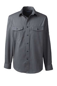 Men's Big Long Sleeve Straight Collar Work Shirt