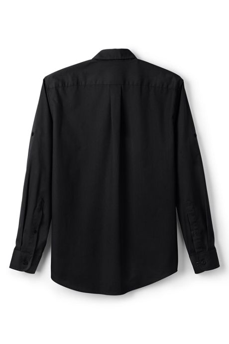 Men's Big Long Sleeve Straight Collar Work Shirt