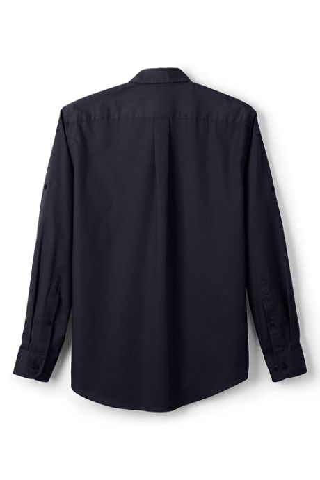 Men's Long Sleeve Straight Collar Work Shirt