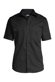 Men's Big Short Sleeve Straight Collar Work Shirt