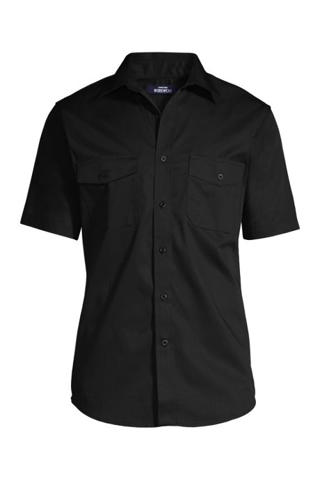 Men's Short Sleeve Straight Collar Work Shirt