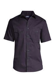 Men's Big and Tall Short Sleeve Straight Collar Work Shirt