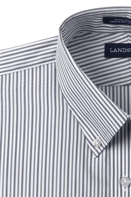 Men's Tall Long Sleeve Buttondown No Iron Pattern Broadcloth Dress Shirt