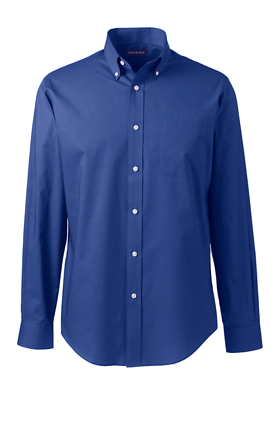 Lands' End Men's Long Sleeve Poplin Shirt