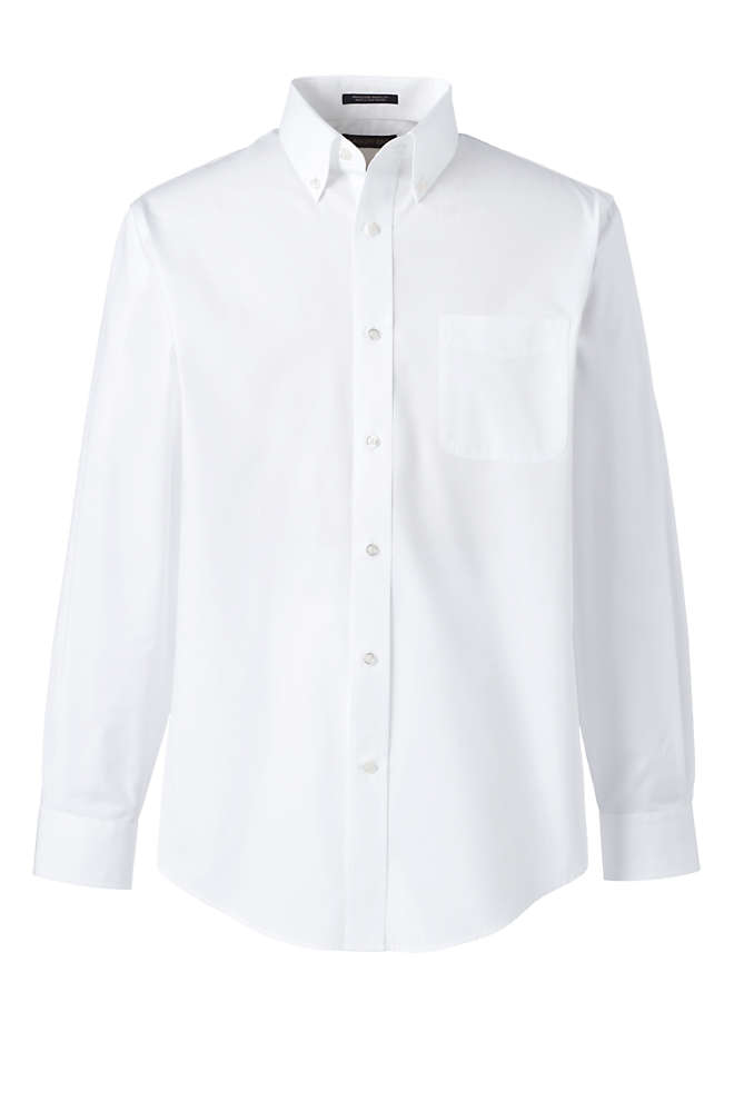 School Uniform Men's Tall Long Sleeve Poplin Shirt, Unknown