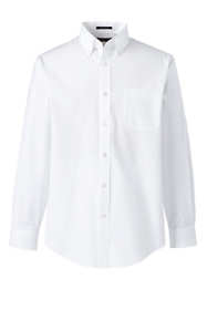 School Uniform Men's Big Long Sleeve Poplin Shirt