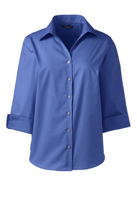 Women's Petite 3/4 Sleeve Poplin Shirt