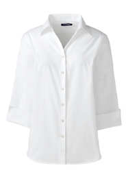 Women's Plus Size 3/4 Sleeve Poplin Shirt