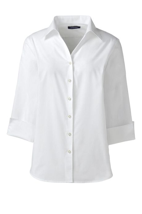 Women's 3/4 Sleeve Poplin Shirt