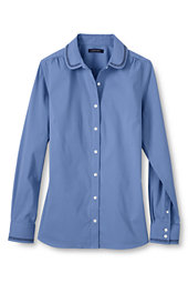 Women's Lattice Stretch Shirt-China Blue