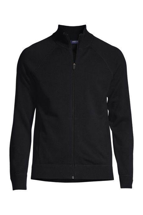 Men's Cotton Modal Long Sleeve Sweater Jacket