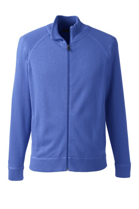 Men's Big Performance Cotton Sweater Jacket