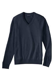 Men's Big Cotton Modal V-neck Sweater