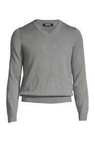 School Uniform Men's Big Cotton Modal V-neck Sweater
