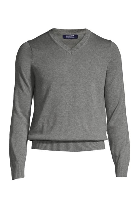 Men's Cotton Modal Long Sleeve V-neck Sweater