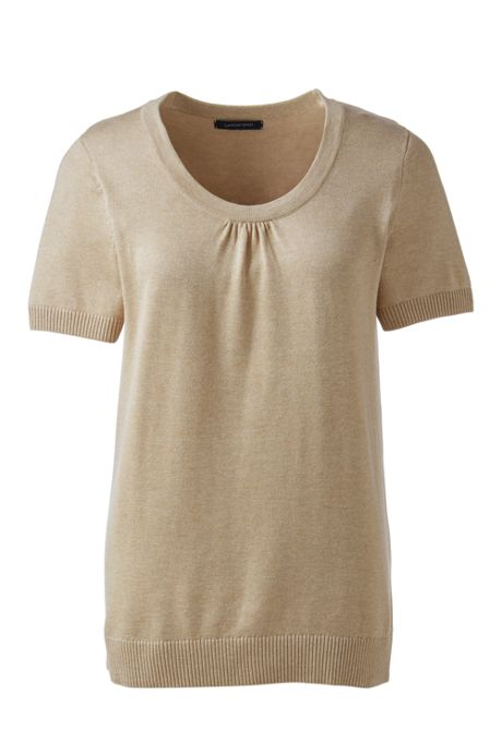 Women's Cotton Modal Cap Sleeve Sweater