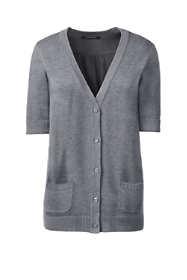 Women's Regular Cotton Modal Half Sleeve Cardigan Sweater