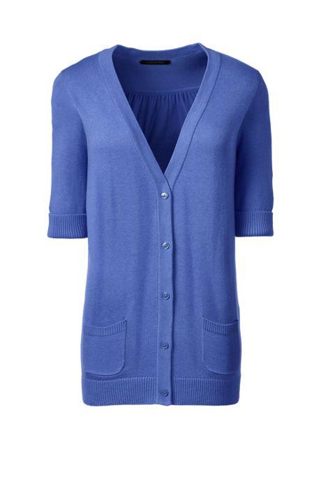 Women's Half Sleeve V-neck Cardigan