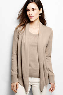 Women's Cotton Modal Open Drape Cardigan, Front