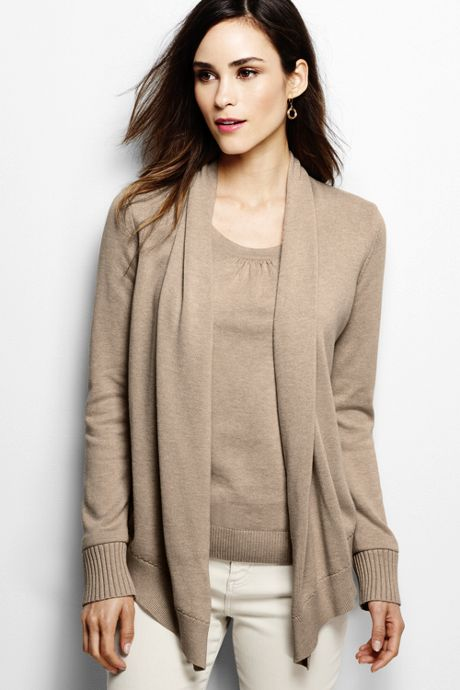 Women's Cotton Modal Open Drape Cardigan