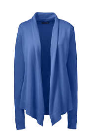 Women's Plus Size Cotton Modal Open Drape Cardigan