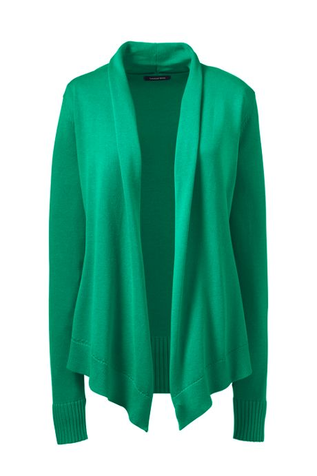 Women's Cotton Modal Open Drape Cardigan Sweater