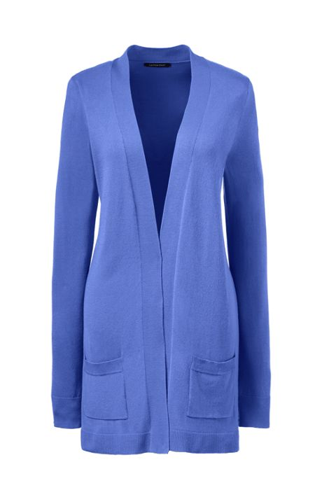 Women's Petite Performance Long Open Cardigan