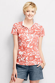 Women's Short Sleeve Pima Ribbed Trim Polo