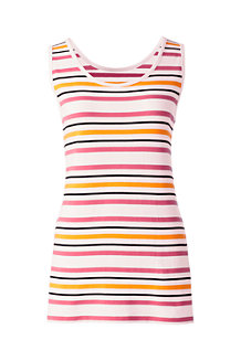 Women's Basic Stripe Cotton Vest Top