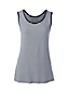 Women's Regular Basic Stripe Cotton Vest Top