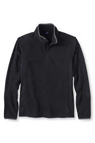 Men's Big Long Sleeve Textured Fleece Quarter Zip Pullover Top