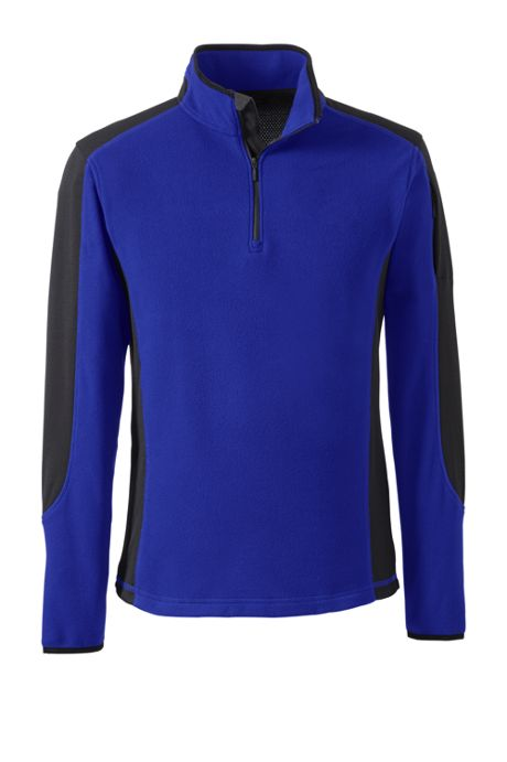 Men's Big Long Sleeve Textured Fleece Half-zip Pop-over