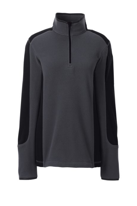 Women's Textured Fleece Quarter Zip Pullover Top