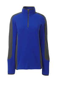 Women's Plus Size Textured Fleece Quarter Zip Pullover Top