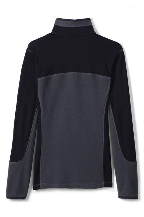Women's Textured Fleece Quarter Zip Pullover Top