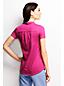 Le T-shirt Léger en Coton Modal Col en V à manches courtes Femme, Taille Standard