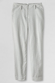 Women's Patterned Mid Rise Linen Crops