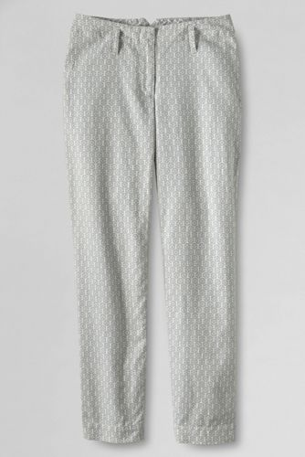 Women's Regular Patterned Mid Rise Linen Crops