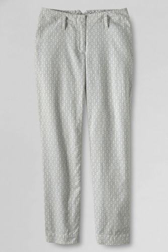 Le Pantacourt en Lin & coton à motifs taille mi-haute Femme, Taille Standard