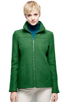 Women's Boiled Wool Blend Jacket