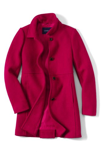 Women's Regular Boiled Wool Blend Coat