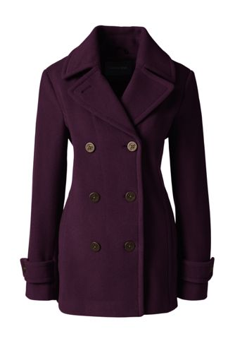 Women's Regular Luxe Wool Blend Pea Coat