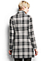 Women's Regular Plaid Wool Blend Toggle Coat