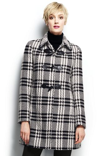 Le Manteau Chic en Laine Écossaise Femme, Taille Standard