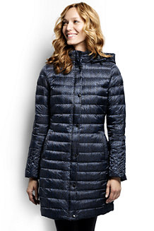 Women's Patterned Lightweight Down Packable Coat