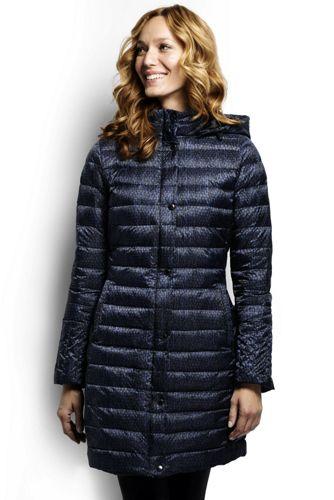 Women's Regular Patterned Lightweight Down Packable Coat