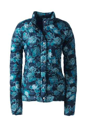 Women's Plus Printed Lightweight Down Packable Jacket