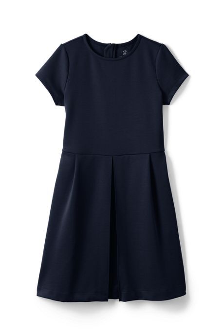 School Uniform Girls Short Sleeve Ponte Dress