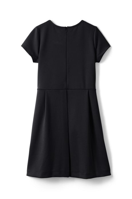 School Uniform Women's Short Sleeve Ponte Dress